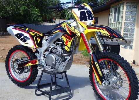 suzuki motocross bike suzuki rmz custom dirt bike graphics image gallery