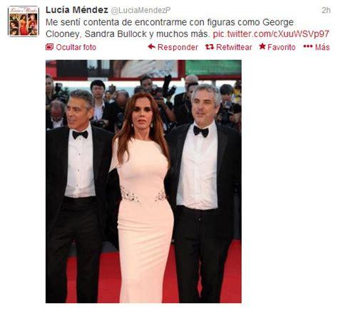 Lucia Mendez Meme - luc 237 a m 233 ndez presume foto falsa con george clooney en su cuenta de twitter y le llueven burlas