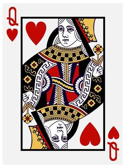 Queen Hearts Card Playing Drawing Cards Template