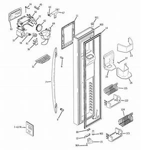 Freezer Door Diagram  U0026 Parts List For Model Pst27sgress Ge