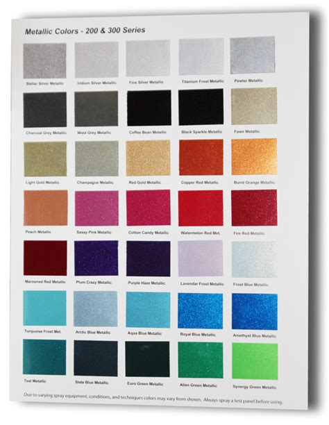 urekem metallic color charts now available thecoatingstore