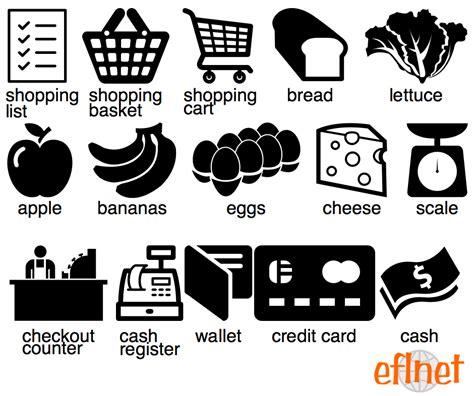 grocery shopping worksheets eflnet