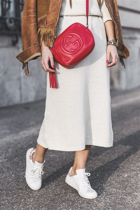 Fringed_Jacket-Polo_Ralph_Lauren-Flame_Sneakers-Isabel_Marant-Gucci_Disco_Bag-White_Dress-Outfit ...