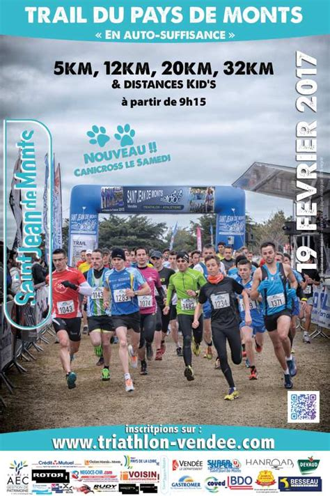 trail jean de monts trail du pays de monts st jean de monts vend 233 e triathlon athletisme