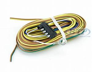 Trailer Wiring Harness 5 Flat 35ft For Adding Disc Brakes