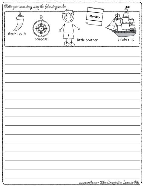 creative writing exercises for second graders 2nd grade