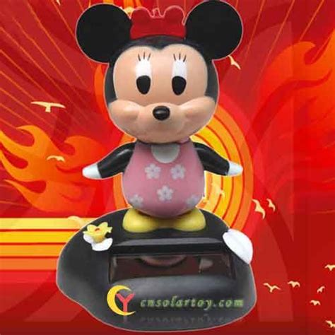 solar power dancing minnie mouse toy solar dancing
