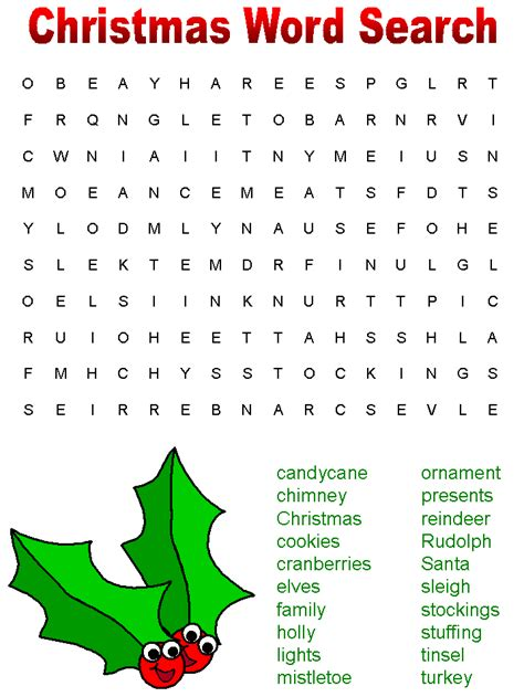 36 printable christmas word search puzzles kittybabylove com
