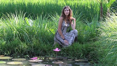 Portrait Beautiful Hippie Girl In Nature Close Up Stock Footage Video 9457235 Shutterstock
