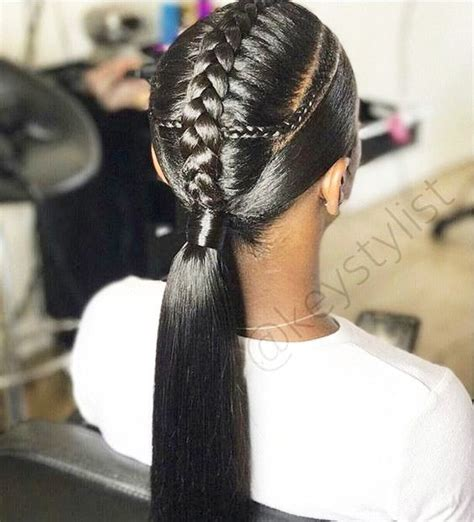 Braided Ponytail Hairstyles For by Braided Ponytail Hairstyles For Black Hair