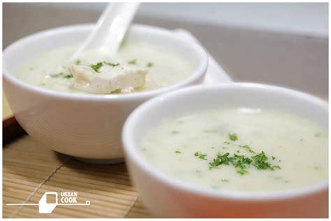 Klik di sini untuk menyaksikan tayangan video resep ini! Resep Sup Krim Ayam ala Urban Cook   KabarKuliner.com