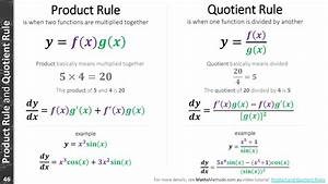 Derivatives Product And Quotient Rule | Autos Post
