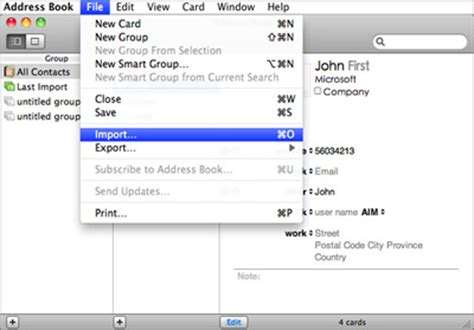import contacts from iphone to mac how to transfer import sync contacts from iphone to mac
