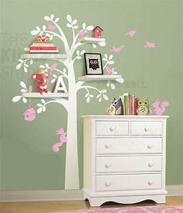 Woodland Shelf Tree Wall Decal-Wall Sticker - Leafy Dreams