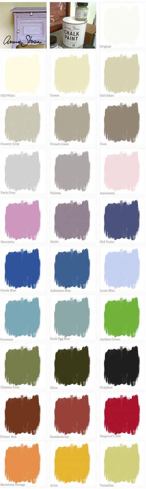 chalk paint sloan chalk paint color swatches