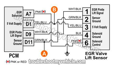 1996 1998 egr valve lift sensor circuit diagram 1 6l civic