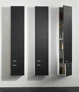 Colonne Salle De Bain Noir : le meuble colonne de salle de bain ~ Teatrodelosmanantiales.com Idées de Décoration