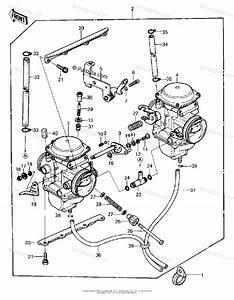 Kawasaki Motorcycle 1981 Oem Parts Diagram For Carburetor Assy   U0026 39 80 A1
