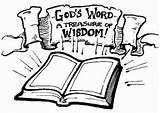 Wisdom Bible Coloring Pages God Verse Proverbs Education Sovereignty Importance Mammon Slack Hands sketch template