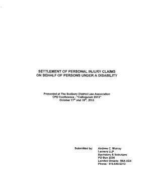 editable personal injury settlement agreement template