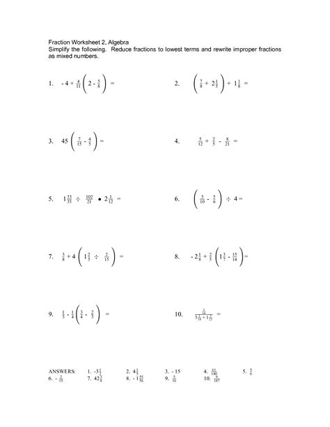 14 Best Images Of Prealgebra Fraction Worksheets  Prealgebra Equations Worksheets, 7th Grade