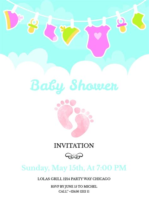 Baby Shower Templates Free - 22 best baby shower invitation templates editable psd