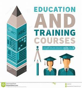Education And Training Courses Vector Concept In Flat ...
