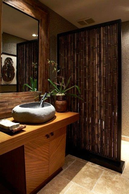 incredible tropical bathroom design interior  natural