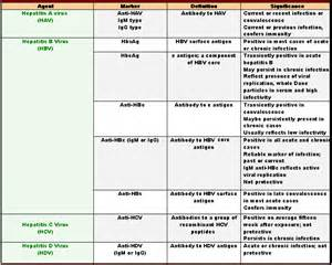 Hepatitis Types Chart