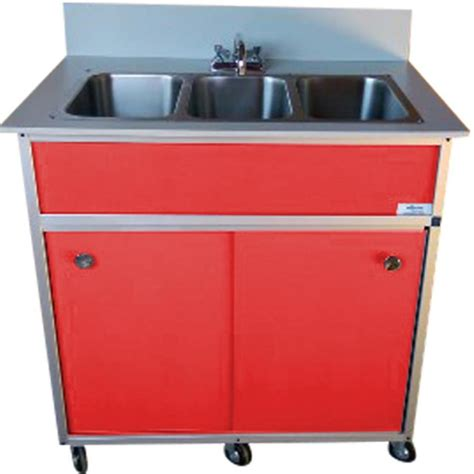triple stainless steel sink shop monsam red triple basin stainless steel portable sink