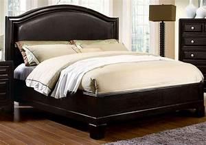 Winsor, Espresso, King, Platform, Bed, From, Furniture, Of, America, Cm7058ek