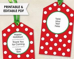 Printable Christmas Tags // Editable Holiday Tags PDF