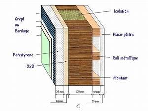 Epaisseur Mur Ossature Bois : isolation maison ossature bois hx75 jornalagora ~ Melissatoandfro.com Idées de Décoration