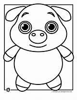Coloring Pages Pig Animal Template Templates Outline Face Colouring Printable Drawing Sheet Pot Pigs Animals Funny Teens Bellied Printer Getdrawings sketch template