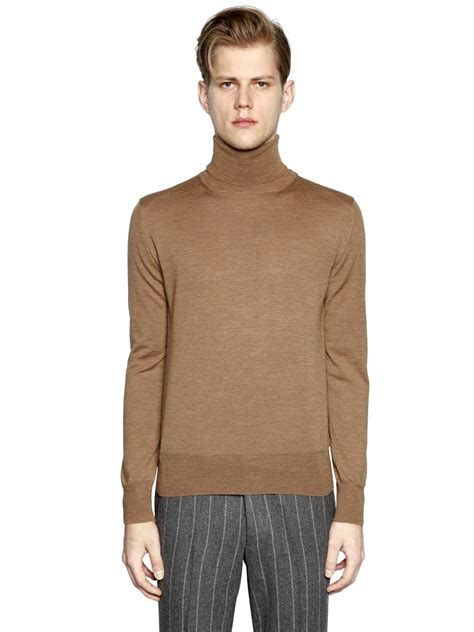 mens wool turtleneck sweater boglioli ribbed wool turtleneck sweater in for
