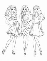 Coloring Barbie Charm Princess Doghousemusic Salvo Template Maid Honor sketch template
