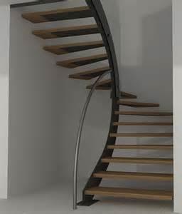 Comment Calculer Un Escalier Demi Tournant by Escalier Demi Tournant Suspendu En Bois Id 233 Es D 201 Co