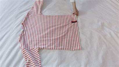 Fold Clothes Gifs Neat Ways Shirt Closet