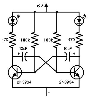 Simple Led Flasher Circuits