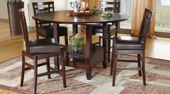 landon chocolate 5 pc counter height dining set dining room sets wood