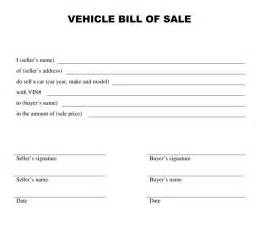 Sle Of A Bill Of Sale For An Automobile by Free Printable Free Car Bill Of Sale Template Form Generic