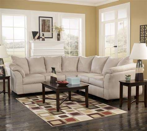 ashley darcy sectional sofa signature design by ashley darcy stone contemporary
