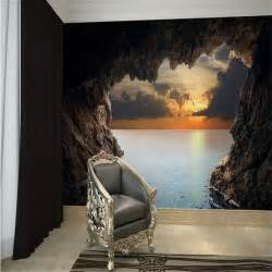 Modern 3D stereoscopic photo wallpaper living room bedroom TV background wallpaper beautiful seascape cave wall mural wall paper