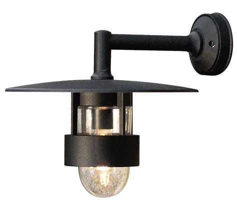 konstsmide freja 1 light outdoor wall light matt black