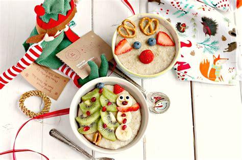 slow cooker snowman  reindeer christmas porridge