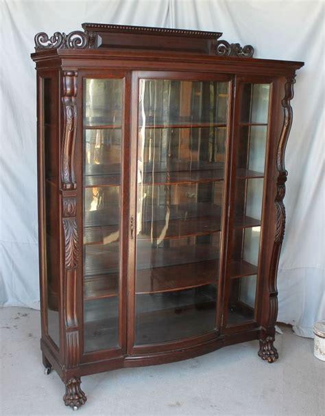 antique curio cabinets antique curio cabinets with claw roselawnlutheran