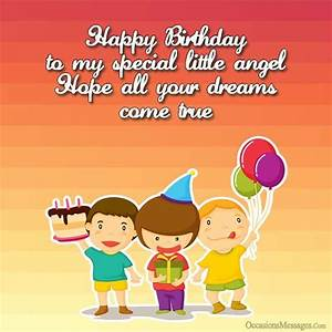 Happy Birthday Wishes for Kids - Occasions Messages
