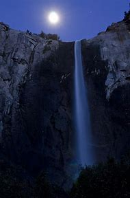 Moon Over Yosemite National Park