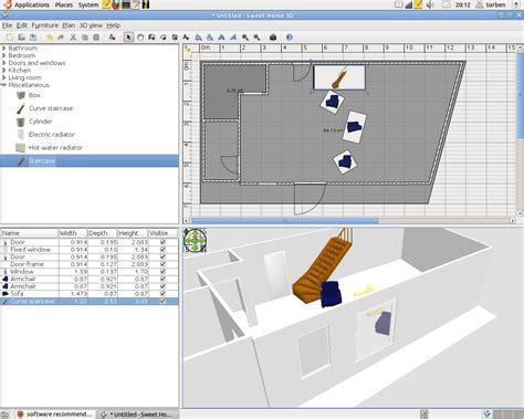 software recommendation good floor planner program  ubuntu