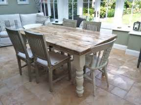 perfect shabby chic round dining table and chairs country